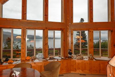 Looking outside of Eagle's Peak Lodge